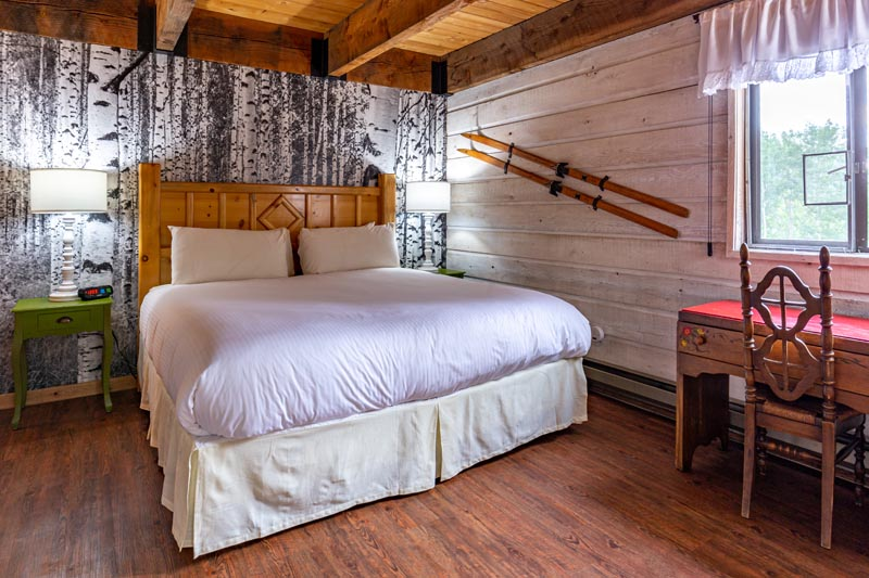 nordic theme guest room at sky valley chateau